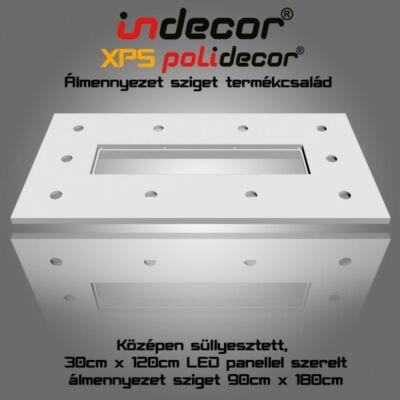 T-180x90-LP süllyesztett álmennyezet LED panel világításnak