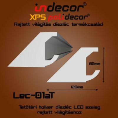 Lec-01AT Tetőtéri rejtett világítás díszléc 80x123 (01/A-T)