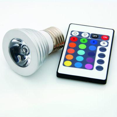 LED spot, E27, 3W, 230V, RGB