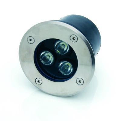 LED spotlámpa, 3W, 12V, padlóba építhető, kerek, R