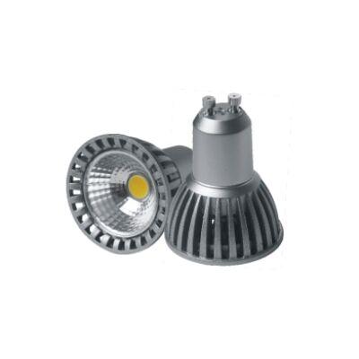 LED spot, GU10, 5W, 230V, COB, meleg fehér fény -