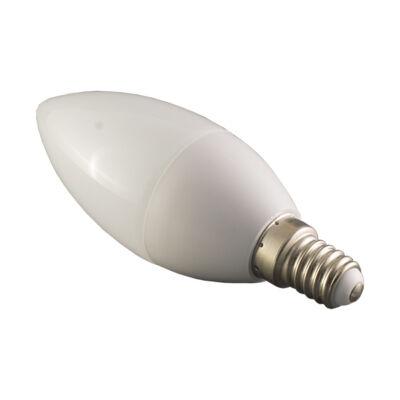 LED gyertya, E14, 6W, 230V, meleg fehér