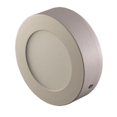 LED Lámpa falon kívüli INOX, 6W, kerek, hideg fehér