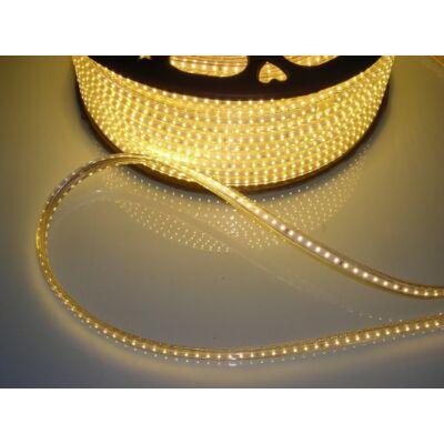 LED szalag, 3014, 120 SMD/m, 230V, vízálló, meleg fehér