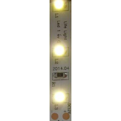 LED szalag, 3528, 60 SMD/m, nem vízálló, meleg fehér