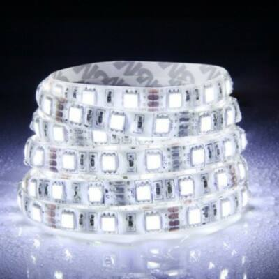 LED szalag, 5050, 60 SMD/m, 12V, vízálló, semleges fehér, ÚJDONSÁG!!!