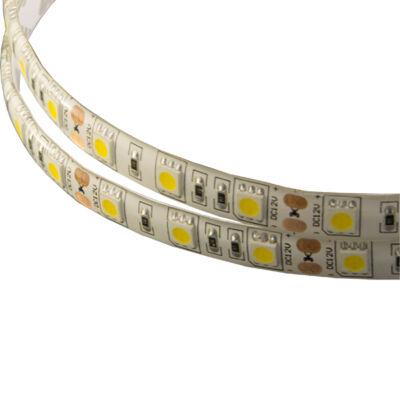 LED szalag, 5050, 60 SMD/m, vízálló, meleg fehér