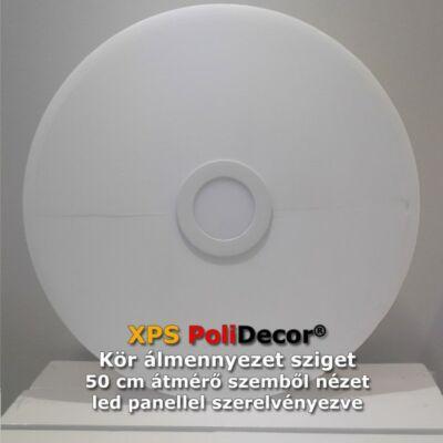 50 cm-es kör álmennyezetsziget Ledszalaggal, 6W-os LED panellel