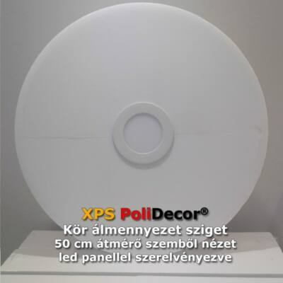 50 cm-es kör álmennyezetsziget Ledszalaggal, 12W-os LED panellel