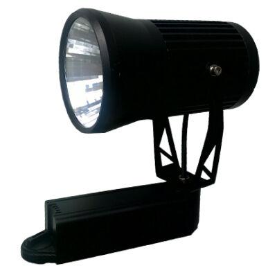 LED reflektor 20W, COB, fekete lámpatest, beltéri,