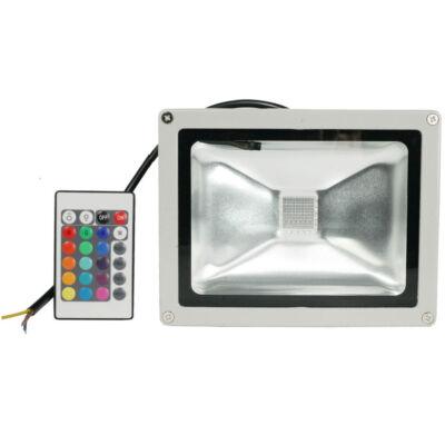 LED reflektor 30W, kültéri, távirányítóval, RGB -