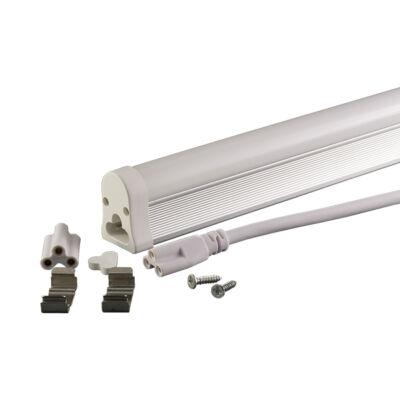 Led fénycső, T5, 31cm, 4W, 230V matt üveg hideg fehér