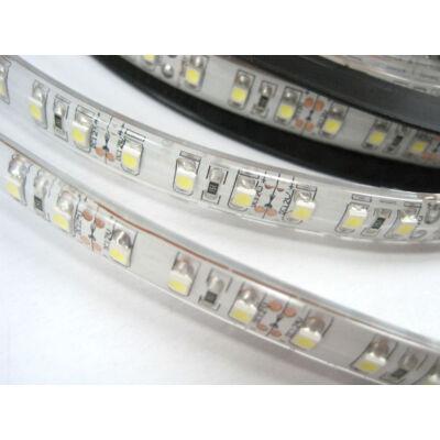 LED szalag, 3528, 120 SMD/m, vízálló, szilikon, hideg fehér