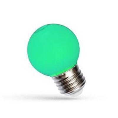 LED Kisgömb E27 230V 1W zöld