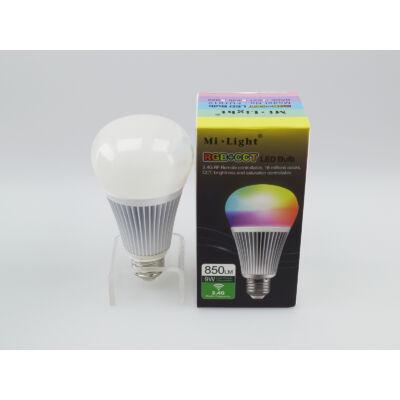 LED égő, E27,  (9Watt/220°) RGB+CCT - távirányítható