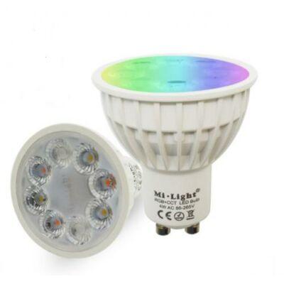 LED spot 25°,GU10, 4W, RGB-CCT LED lámpa ,színváltós, állítható fehér színárnyalat,