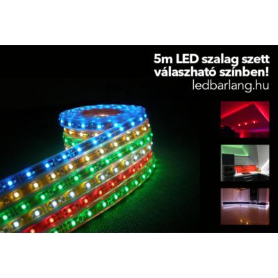 5M LED szalag szett választható színben tápegységgel