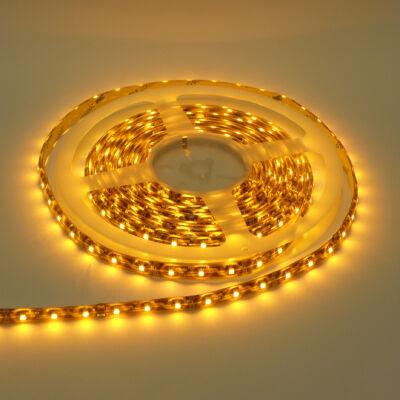 LED szalag, 3528, 60 SMD/m, nem vízálló, sárga fény