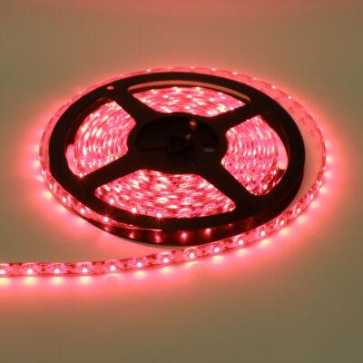 LED szalag, 3528, 60 SMD/m, nem vízálló, piros fény