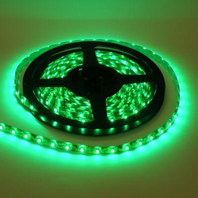 LED szalag, 5050, 60 SMD/m, vízálló, zöld fény