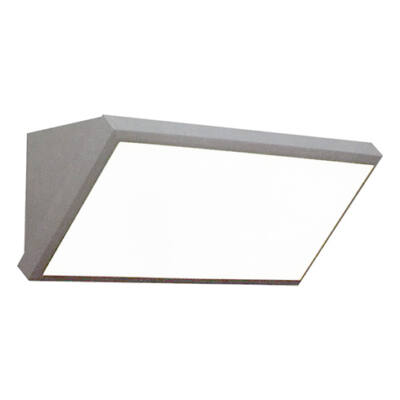 Kültéri fali lámpa (12W) szürke, természetes fehér IP65