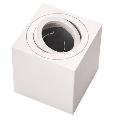 Falon kívüli spot lámpatest, négyzet, billenthető, fehér (GU10)