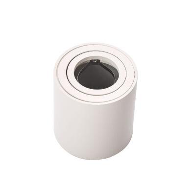 Falon kívüli spot lámpatest, henger, billenthető, fehér (GU10)