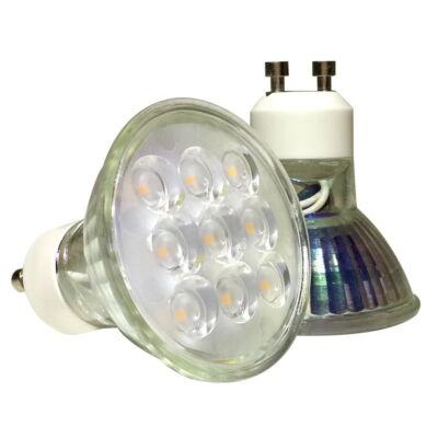 LED szórt 120°,GU10, 3,5W, 230V, Meleg fehér