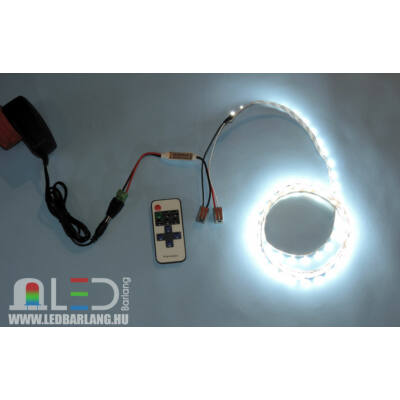5m LED szalag szett (Monokróm / Fehér)