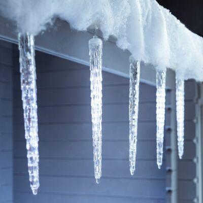 Ledes Jégcsap világítás, olvadást imitáló 30cm hideg fehér Valósághű !!!