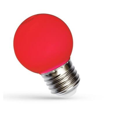 LED Kisgömb E27 230V 1W piros
