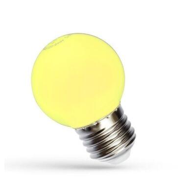 LED Kisgömb E27 230V 1W sárga