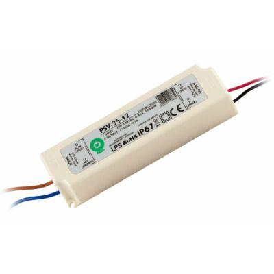 Tápegység LED szalagokhoz 36W, 12V, 3A, IP67