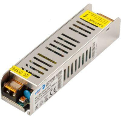 Tápegység LED szalagokhoz 120W, 12V, fém ház slim