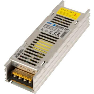 Tápegység LED szalagokhoz 150W, 12V, fém ház slim