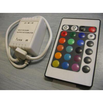 Távirányító LED RGB szalaghoz 72W, 6A, 12V, 24 nyomógombos