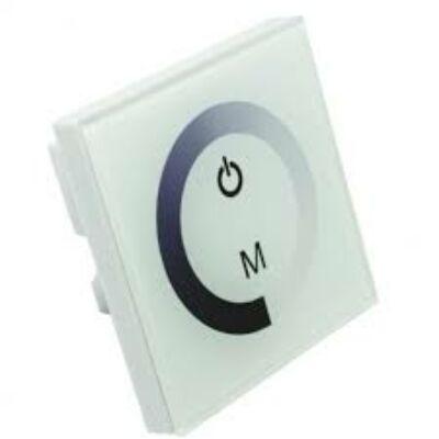 Fali LED vezérlő-dimmer, érintős, egyszínű Led szalaghoz fehér