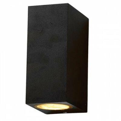 Kültéri oldalfali lámpa, kétirányú IP44 (2 x GU10) fekete