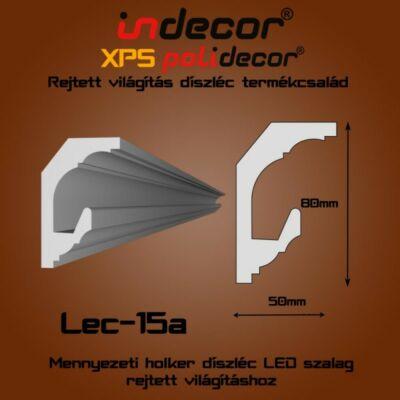 Lec-15A Mennyezeti rejtett világítás díszléc