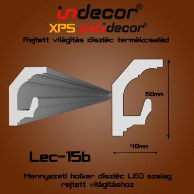 Lec-15B Mennyezeti rejtett világítás díszléc