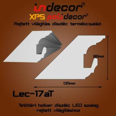 Lec-17AT Tetőtéri rejtett világítás díszléc 80x135 (17/A-T)