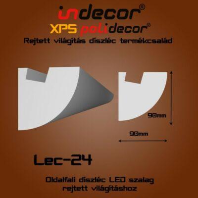 Lec-24 Oldalfali rejtett világítás díszléc