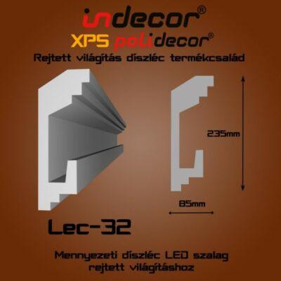 Lec-32 Mennyezeti rejtett világítás díszléc