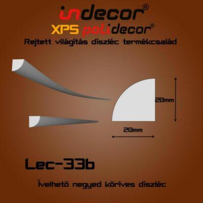 Lec-33B Ívelhető 20x20mm
