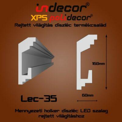 Lec-35 Mennyezeti rejtett világítás díszléc