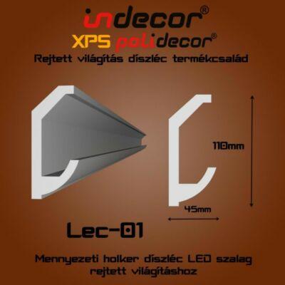 Lec-01 Mennyezeti rejtett világítás díszléc