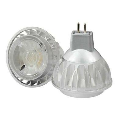 LED spot, MR16, 7W, 12V, COB, meleg fehér