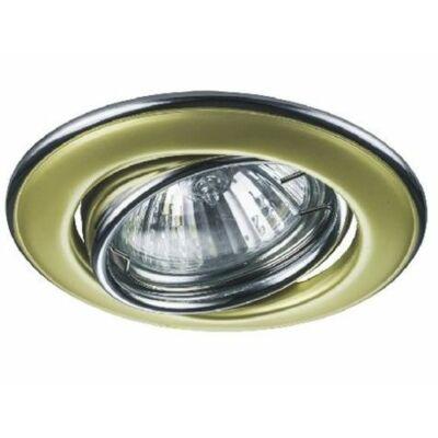 Beépíthető keret, mozgatható, arany, d: 82*29 mm,