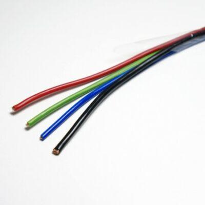 RGB LED szalaghoz  4eres vezeték 1 méter