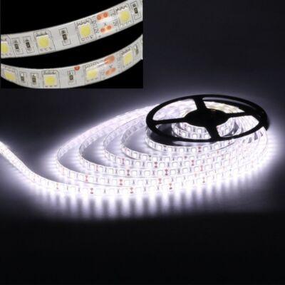 LED szalag, 5050, 60 SMD/m, 12V, beltéri, semleges fehér, ÚJDONSÁG!!!